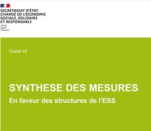 [PUBLICATION] Synthèse des mesures de soutien en faveur des structures de l'ESS